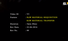 Raw material requisition and transfer